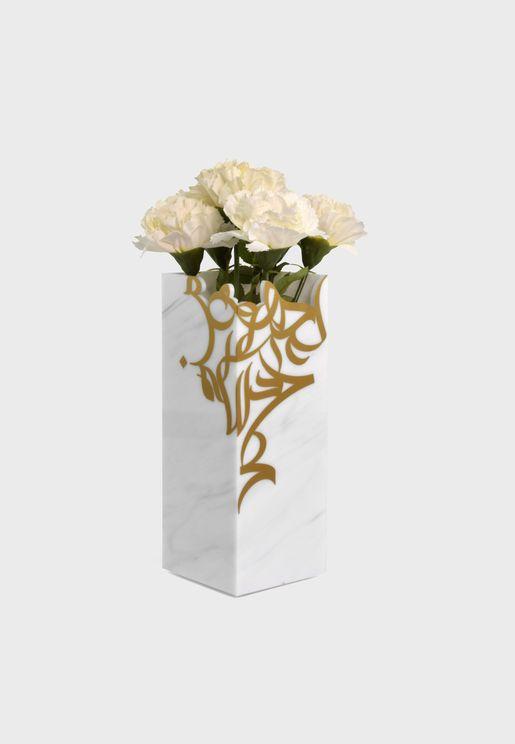 مزهرية بطباعة خط اليد