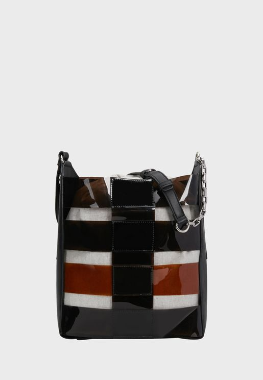 Greyscale 3 Striped Tote