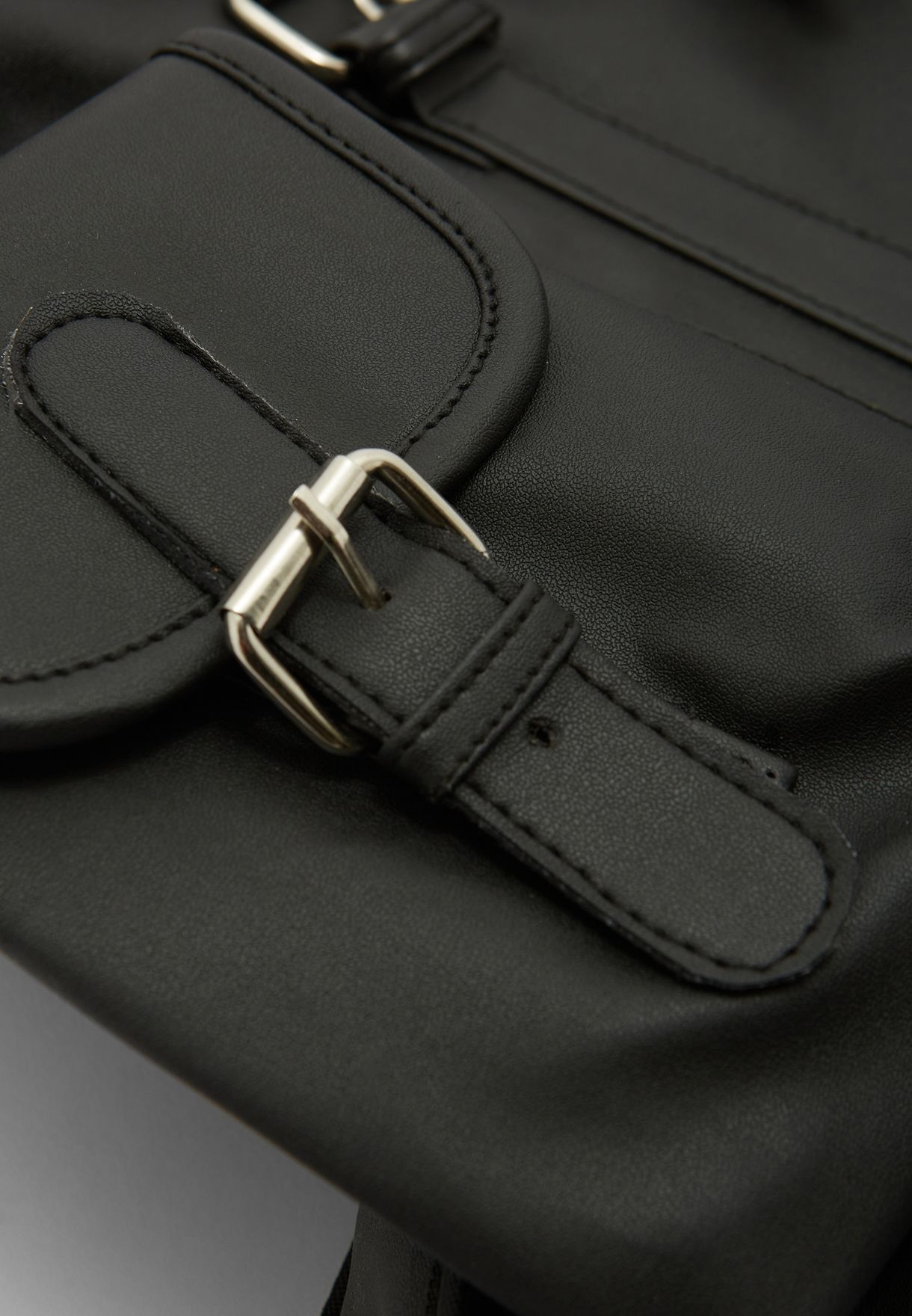 Casual Faux Leather Backpack