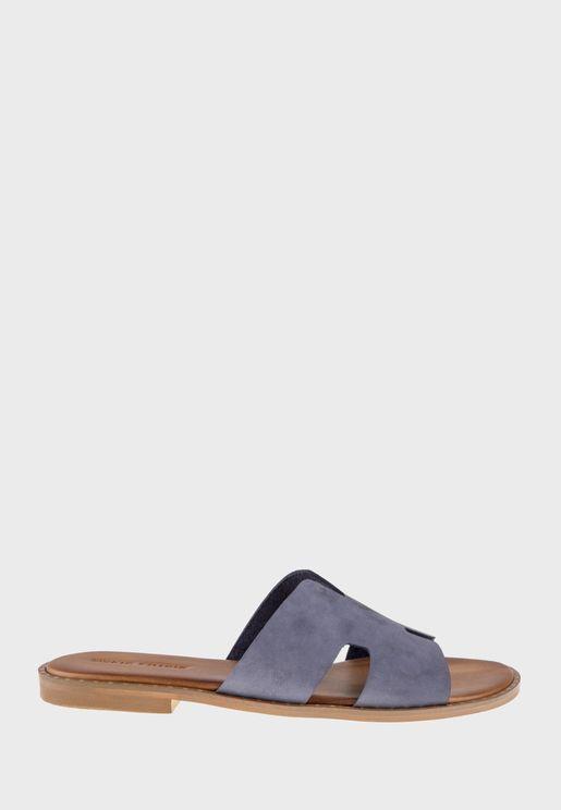 Single Wide Strap Flat Sandal