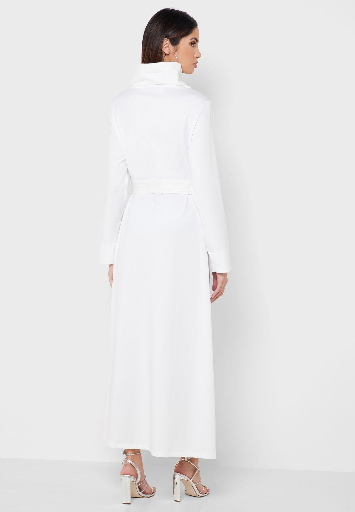Asymmetrical High Neck Dress