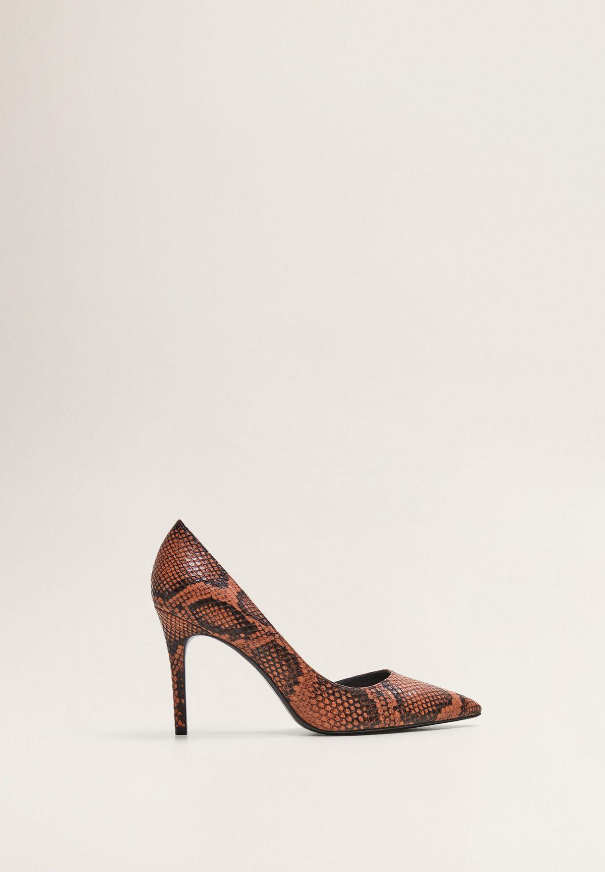 حذاء مطبع بكعب عالي