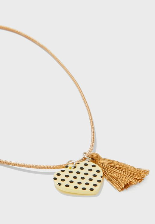 Kids Heart With Tassel Necklace