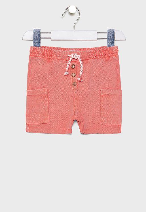 Infant Tie Waist Cargo Shorts