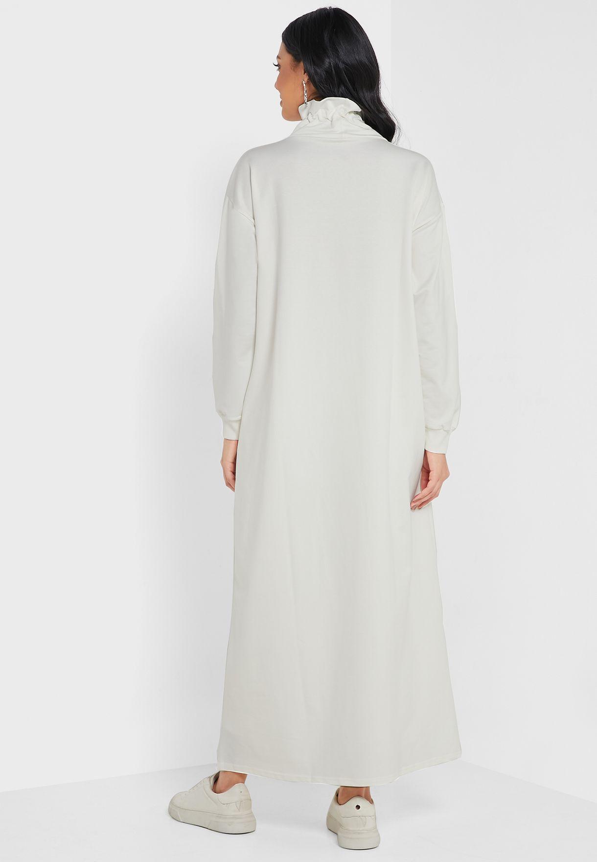 Polo Neck Sweat Dress