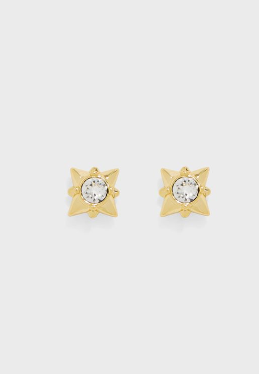 Stellar Crystal Stud Earrings