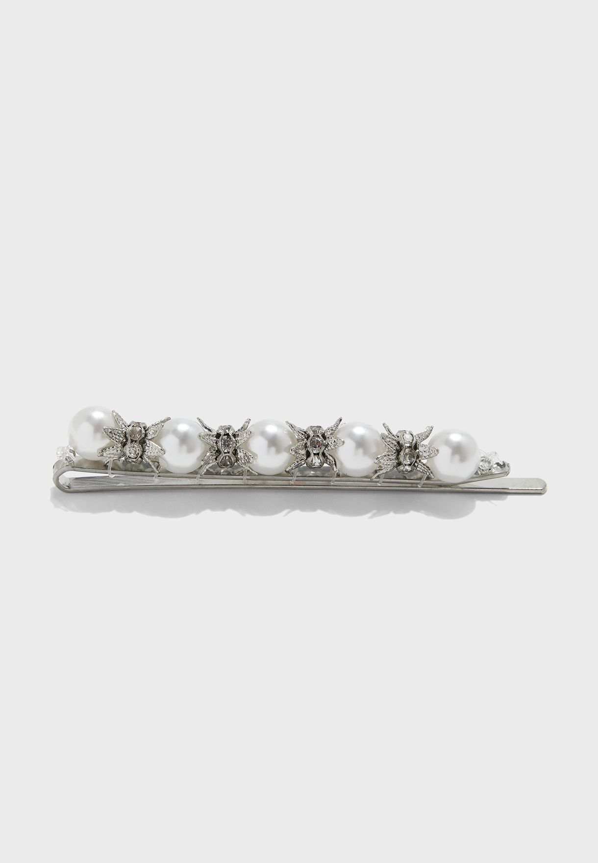 Pearl & Diamante Hair Slide