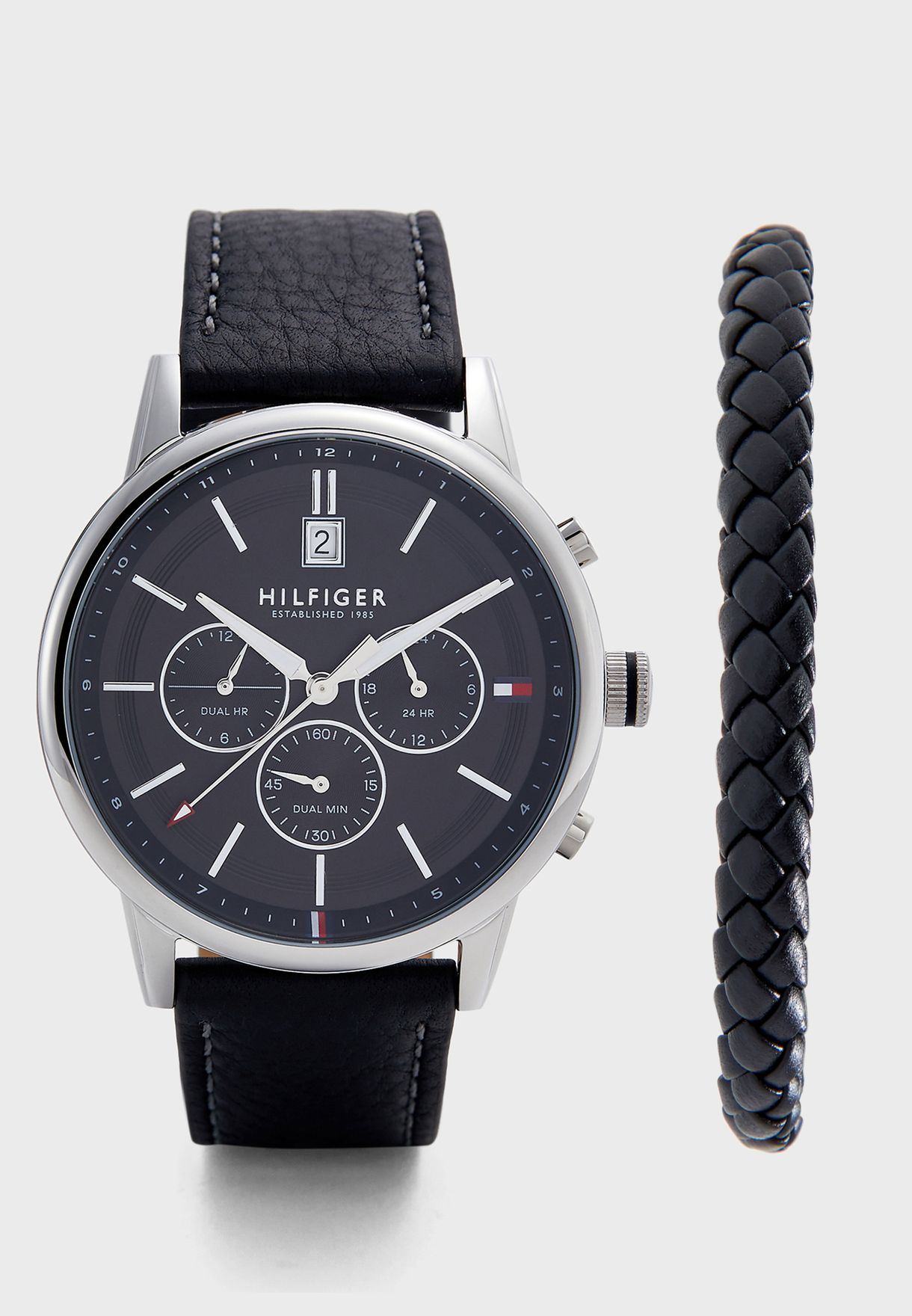 Buy Tommy Hilfiger Black Kyle Watch Amp Bracelet Gift Set For Men In Kuwait City Other Cities 2770058