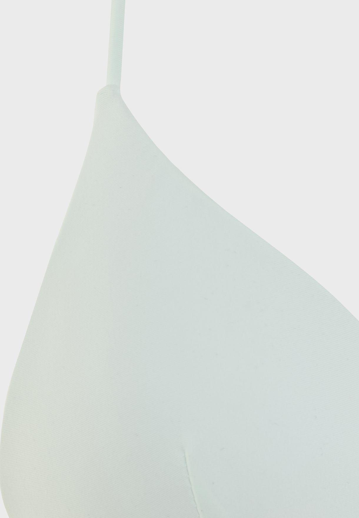 Halter Neck Triangle Bikini Top