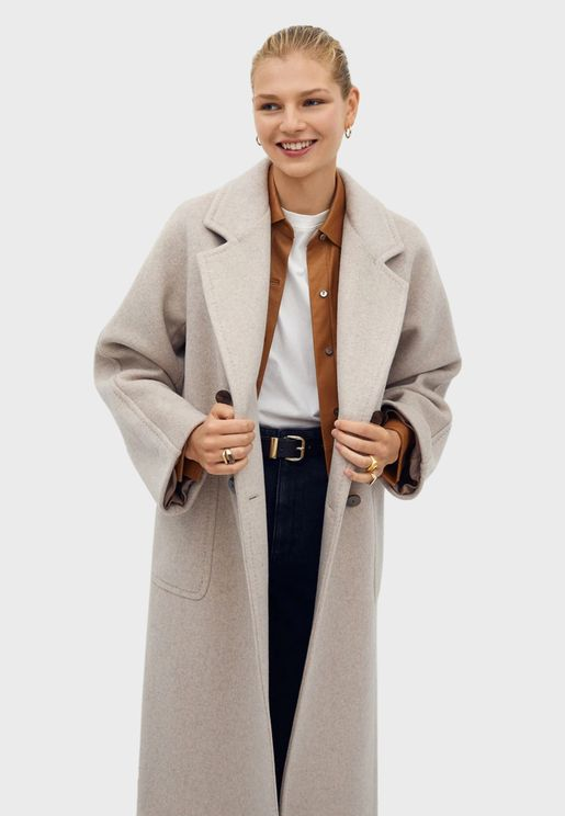 Double Breasted Longline Coat