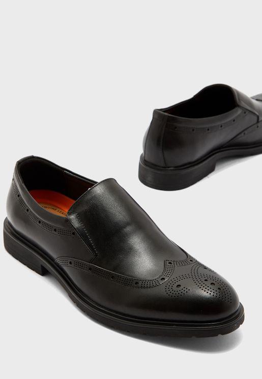 حذاء بنمط بروغ جلد اصلي