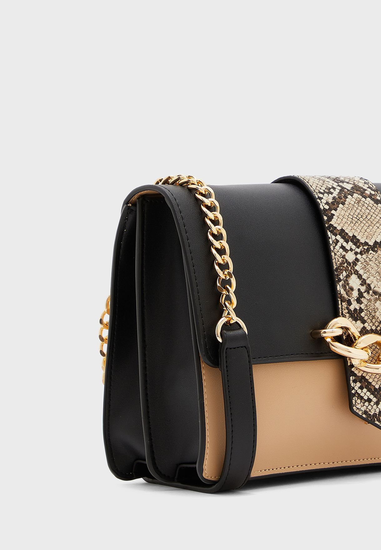 Carpisa Chain Detail Flap Over Crossbody