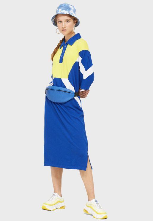 Colorblock Polo Dress