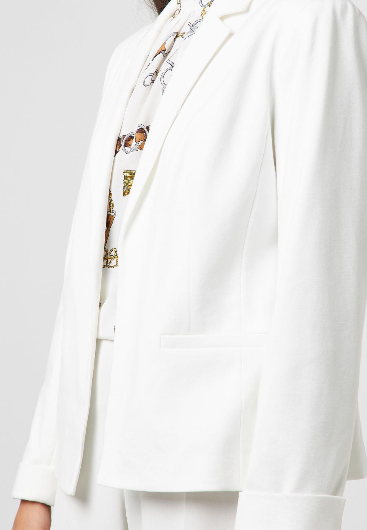 Pocket Detail Long Sleeve Blazer