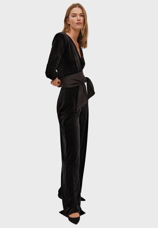 Velvet Plunge Jumpsuit