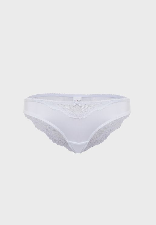 Lace Detail Brazilian Brief
