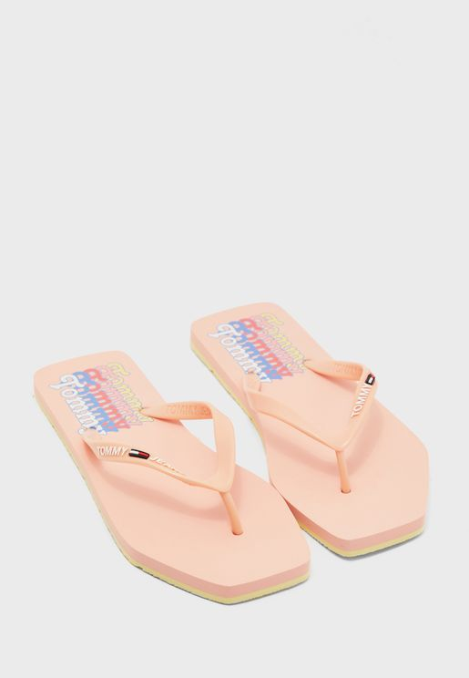 Square Toe Beach Flip Flop