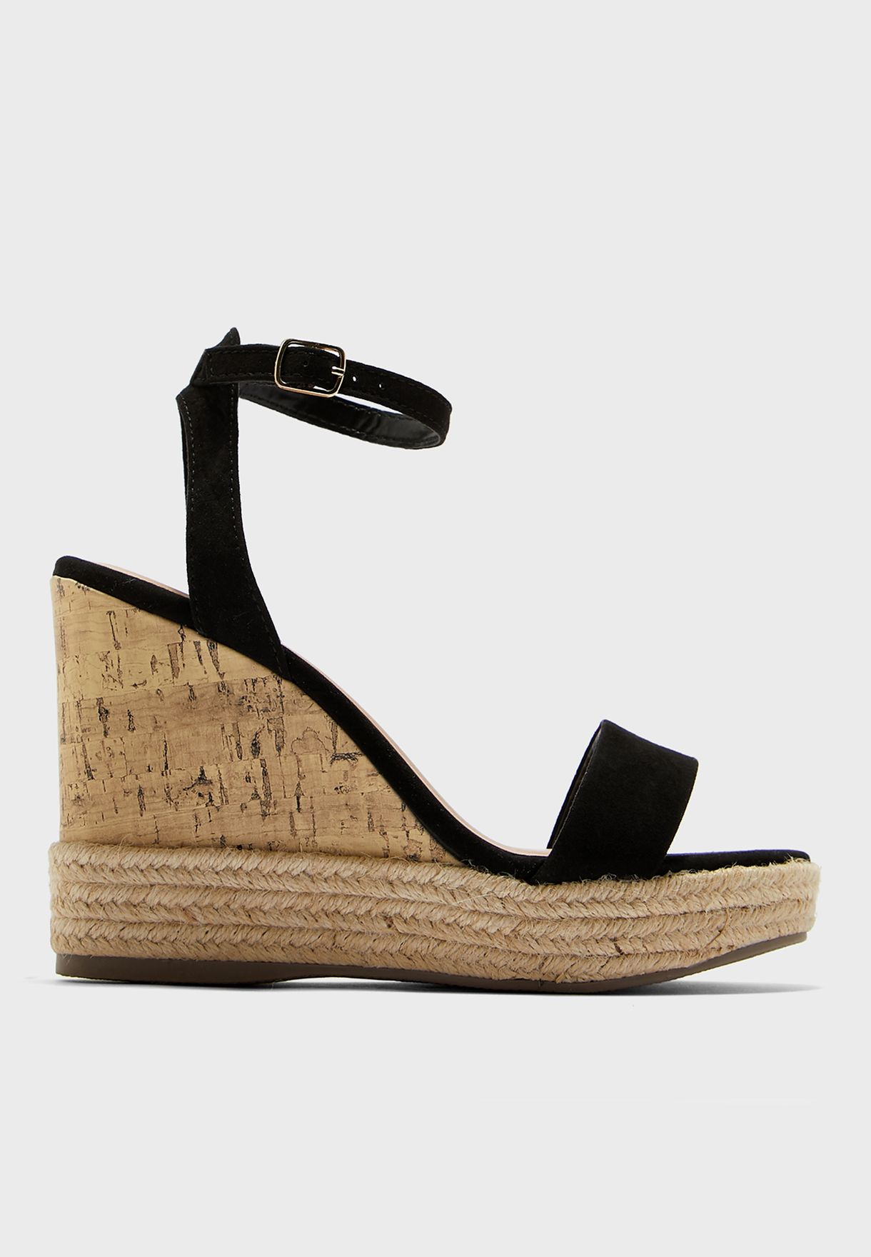 5a0cb053733 One Strap Wedge Sandal