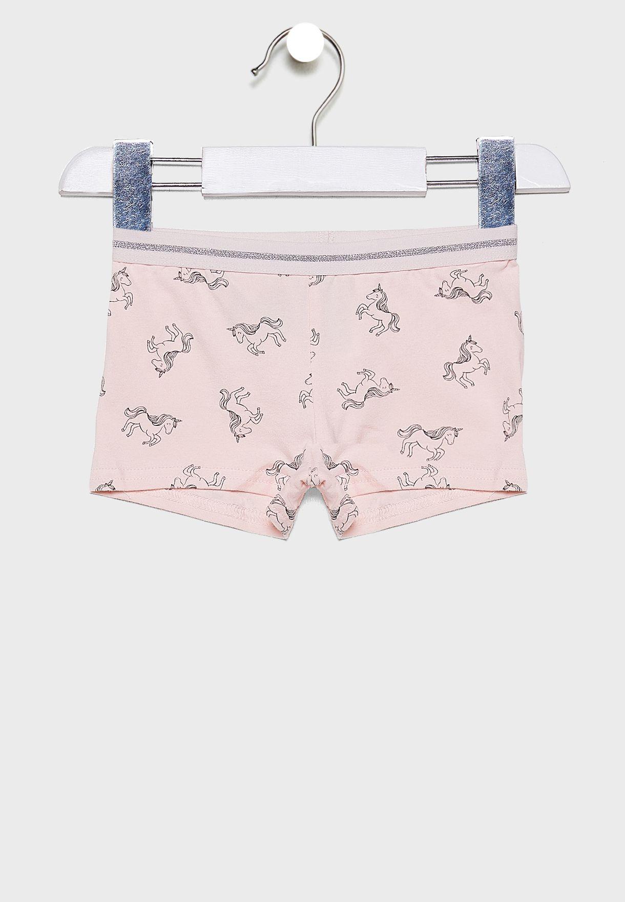 Kids 2 Pack Unicorn Underwear