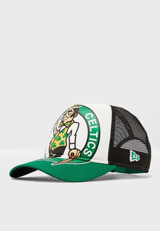 c5a801c41af52 9Forty Boston Celtics Retro Trucker Cap