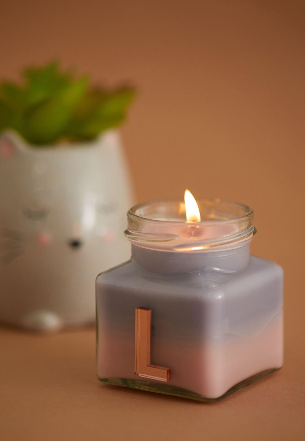 Vanilla Ylang Ylang Initial L Candle