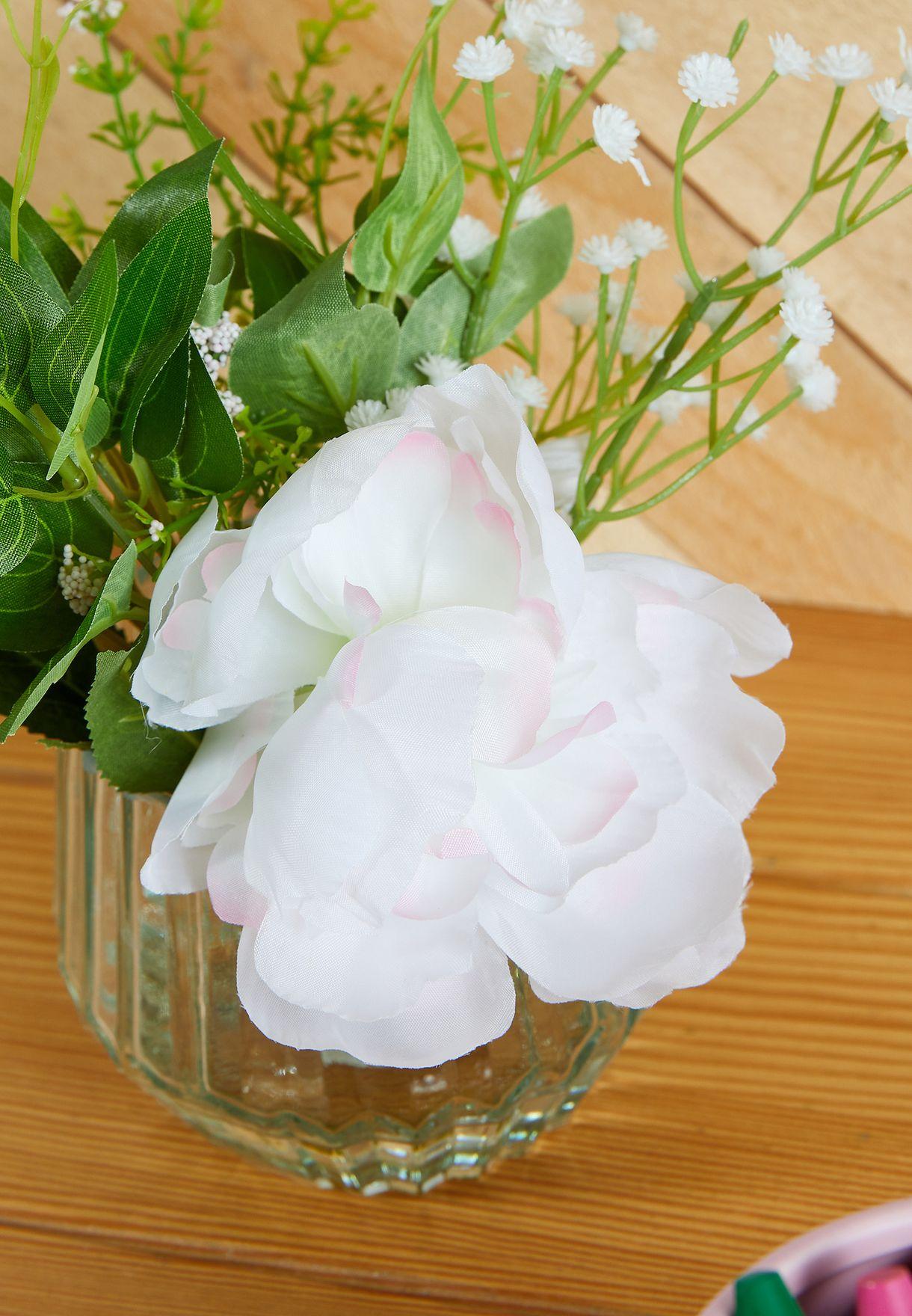 مزهرية بورود بوني صناعية