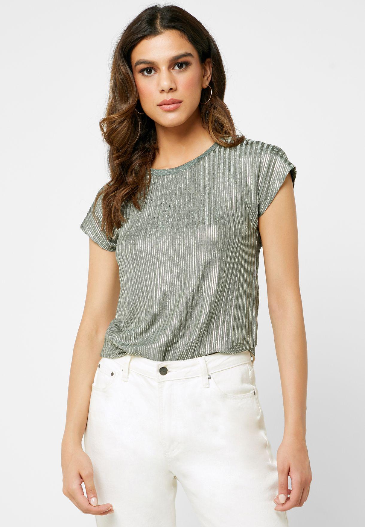 Shimmer Short Sleeve Top