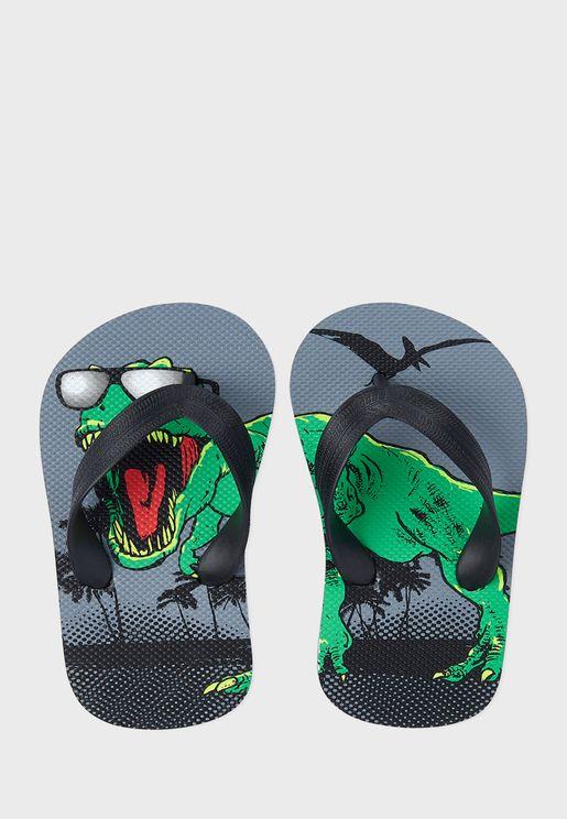 Dinosaur Printed Flip Flop