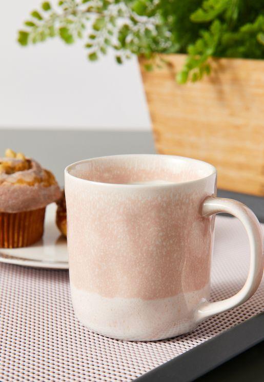 Pink Dipped Glaze Mug