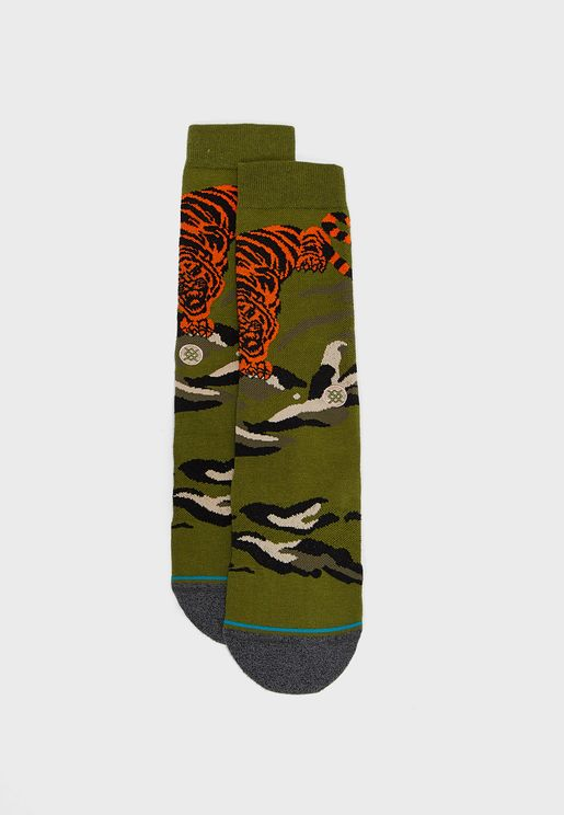 Big Cat Crew Socks