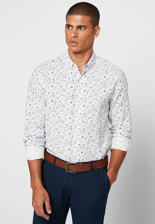 Floral Print Modern Fit Shirt