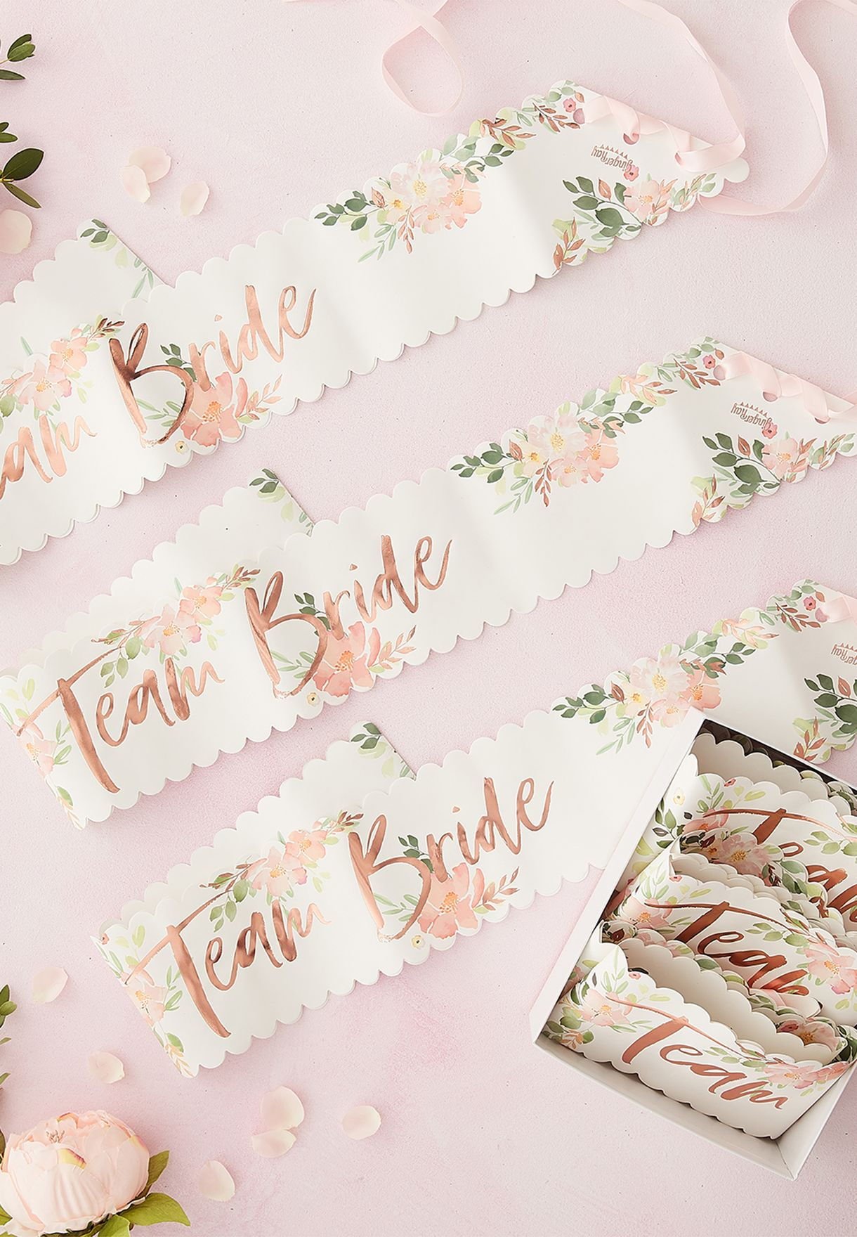 6 Pack Team Bride Sashes