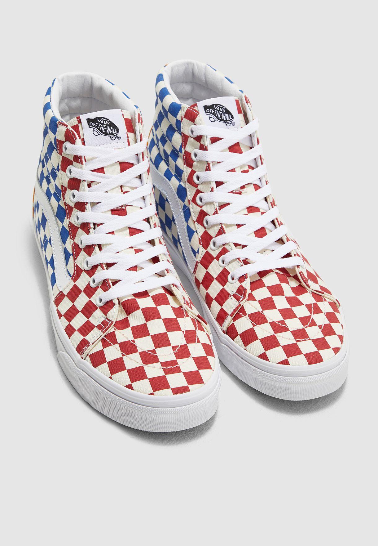 حذاء مطبع بكاحل متوسط الارتفاع