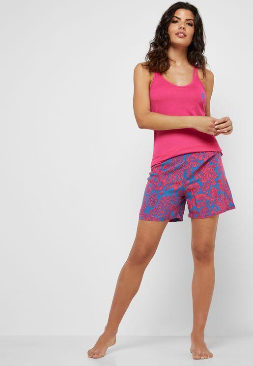 Logo Cami Top & Shorts Set