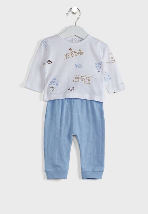 Infant Graphic T-Shirt + Pyjama Set