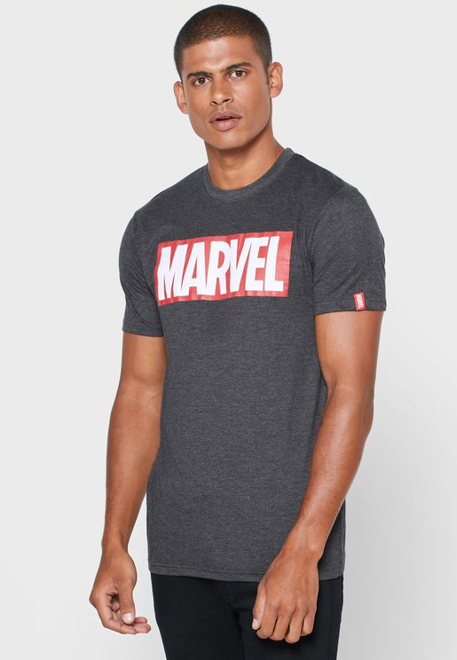 Marvel Crew Neck T Shirt