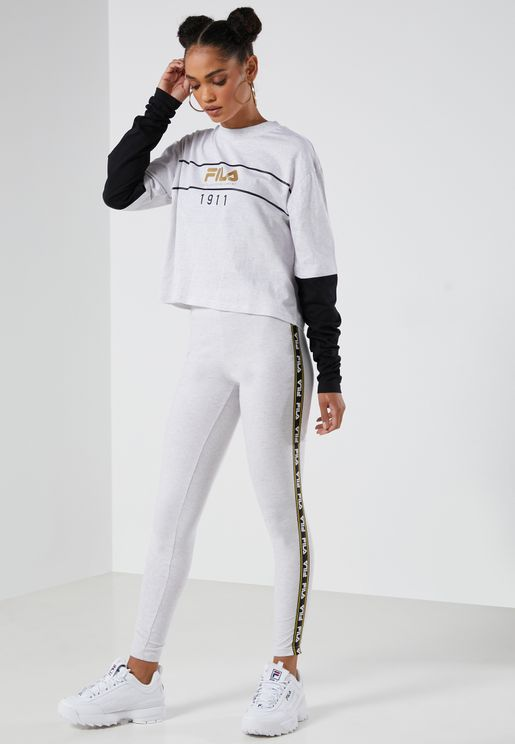 Cathy Logo Tape Leggings