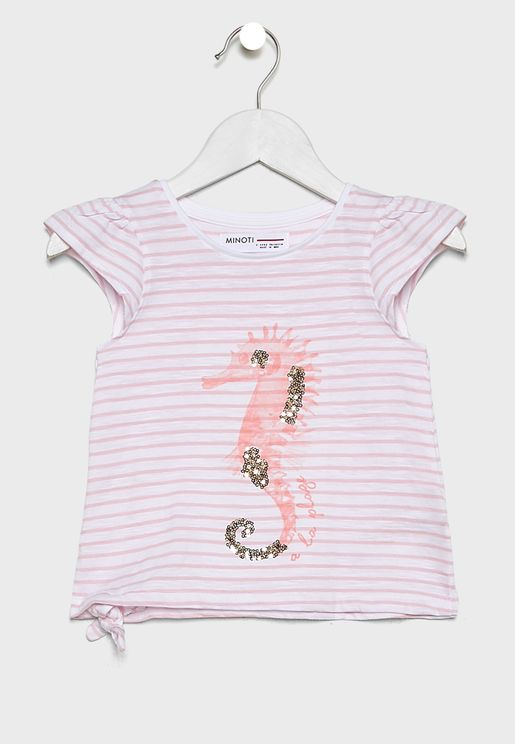 Infant Striped Side Tie Top