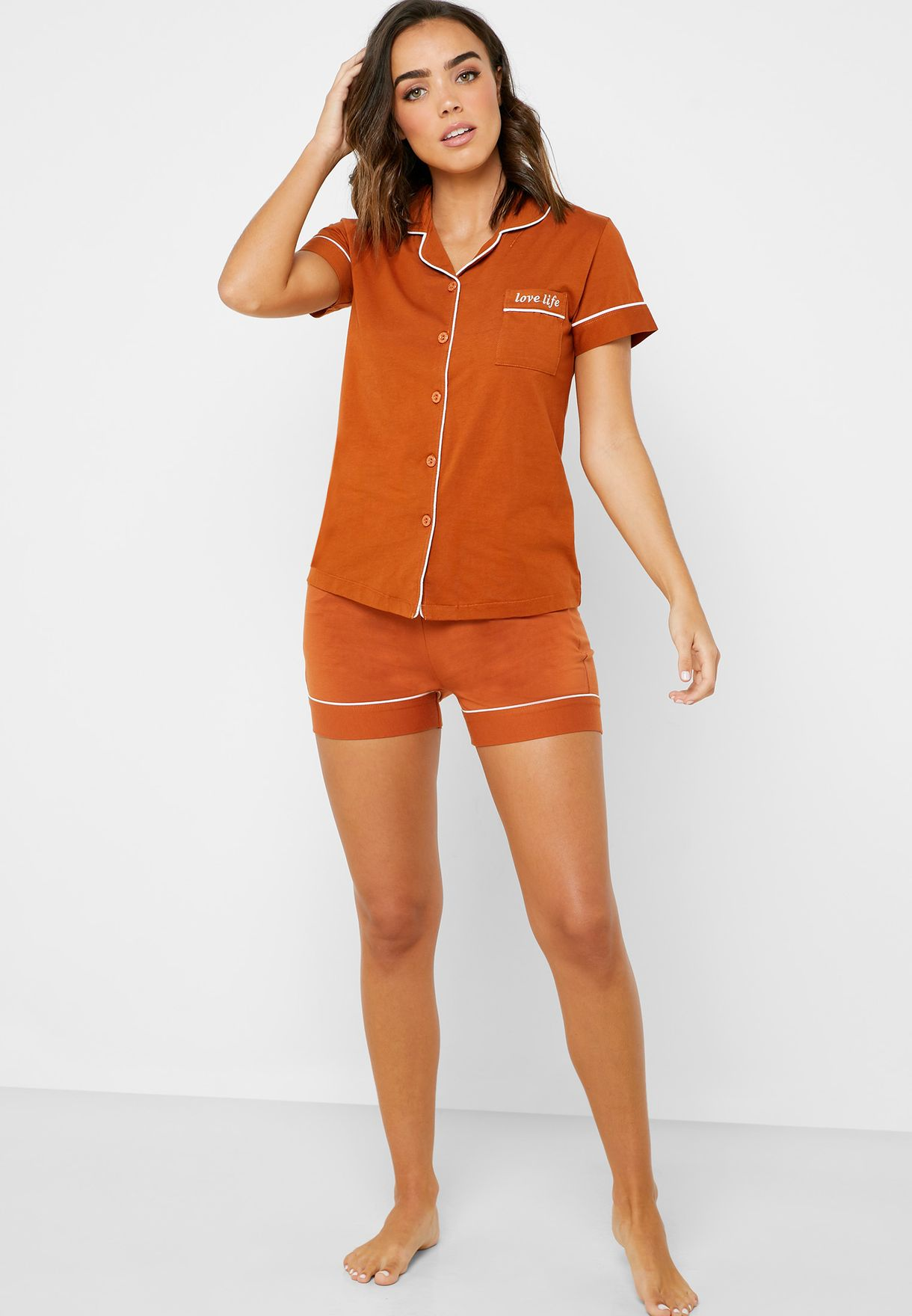 Shirt Short Pyjama Set