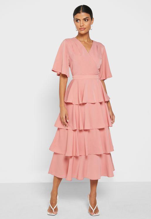 Ruffle Layered Dress