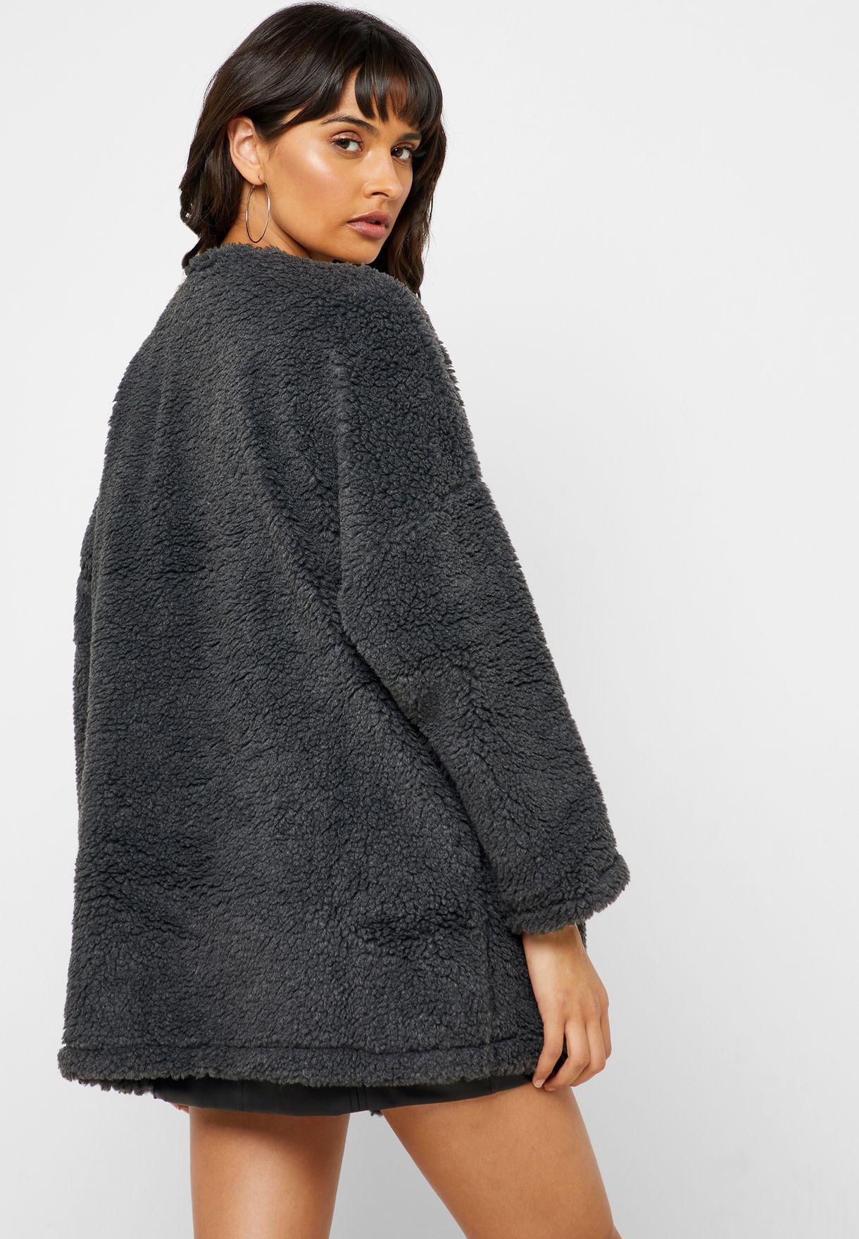 Throwover Teddy Coat