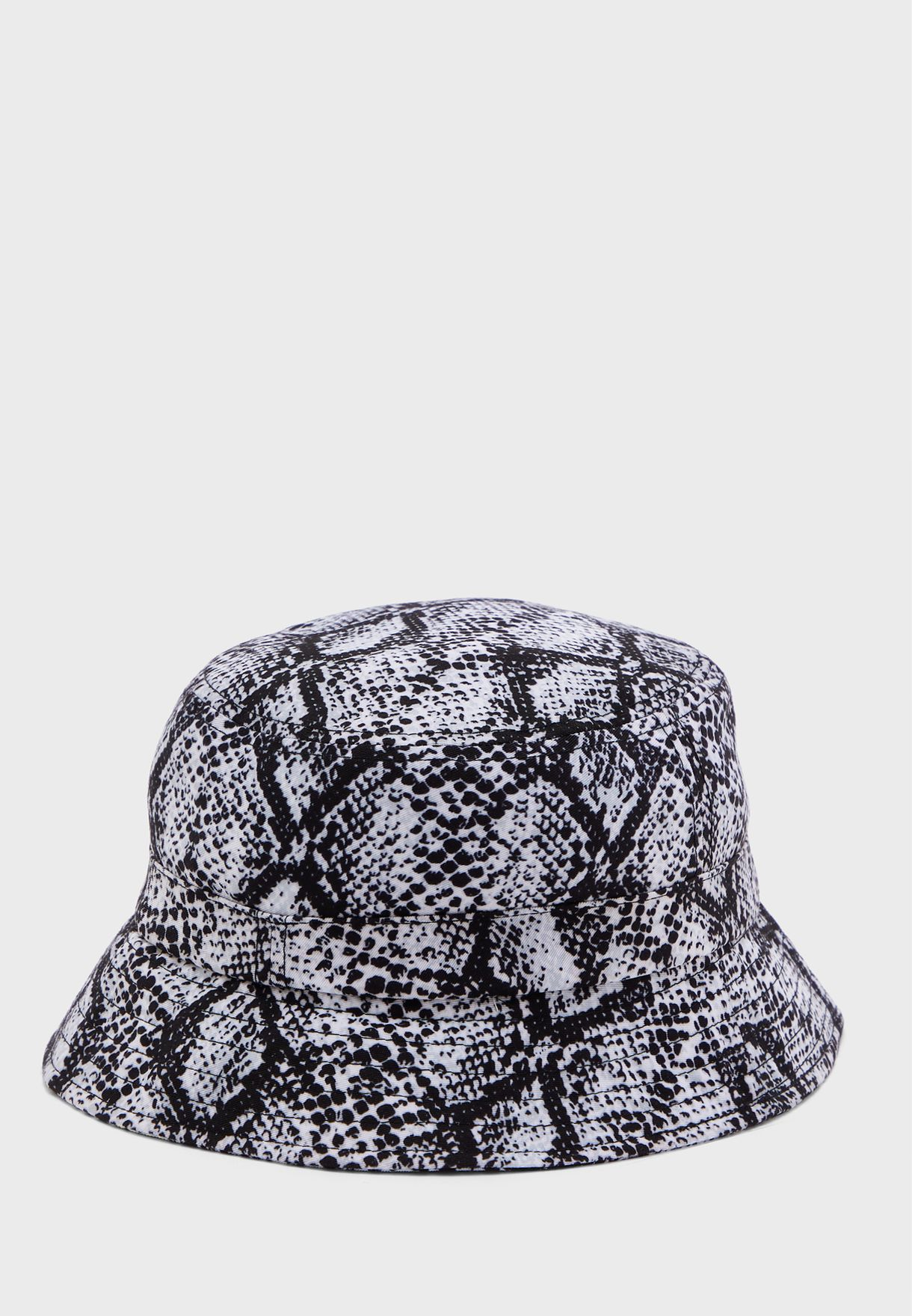 Signature Snake Print Bucket Hat