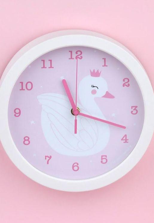 ساعة بطباعة بجعة