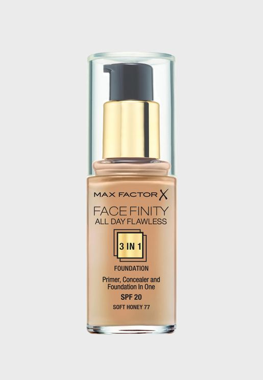 3-in-1 Flawless Liquid Foundation- 77 Soft Honey