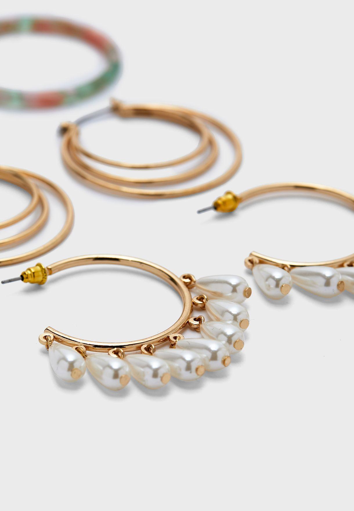 Multipack Hoop Earrings