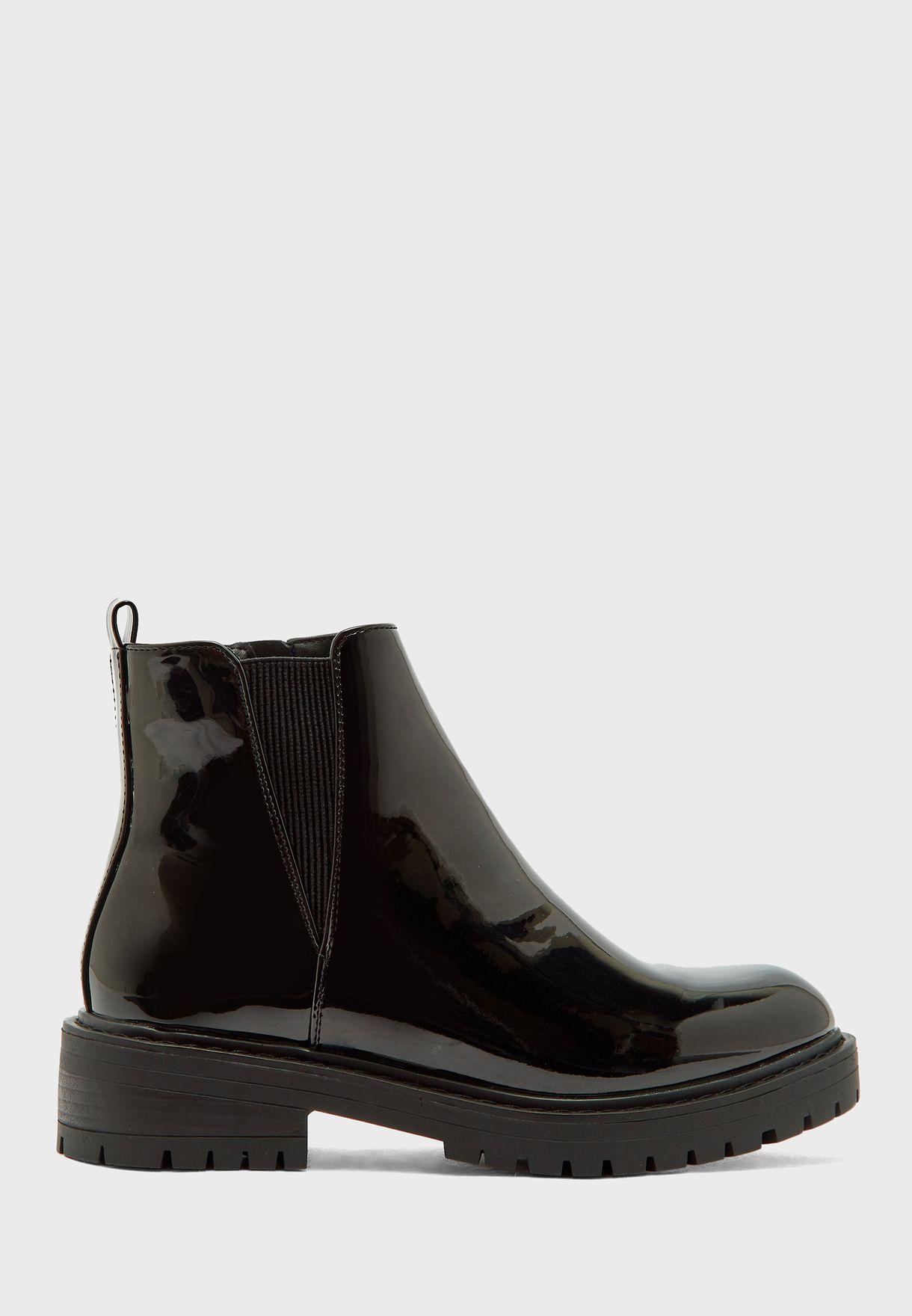 Chelsea Chunky Low Heel Boot