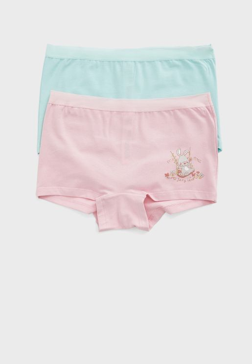Kids 2 Pack Assorted Knickers