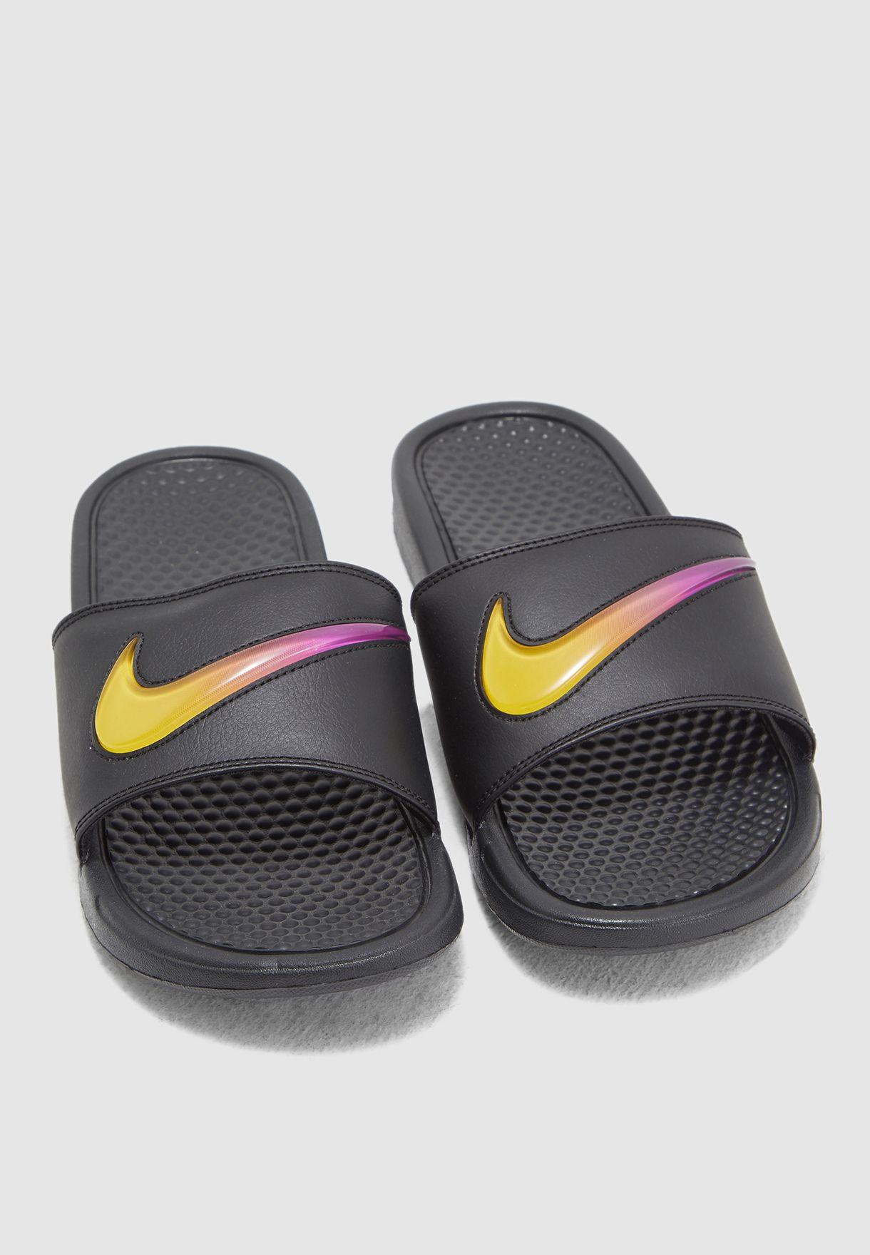 new arrival e479f 13aa6 Shop Nike black Benassi JDI SE Slides AJ6745-002 for Men in UAE -  72704SH32BGP