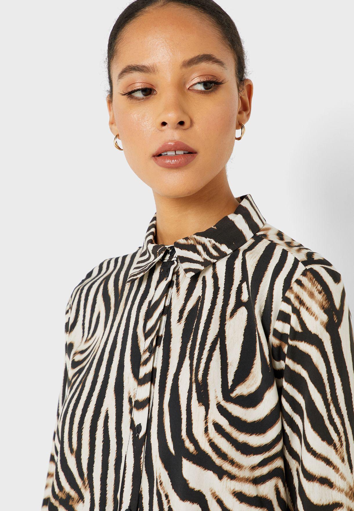 Longline Animal Print Shirt