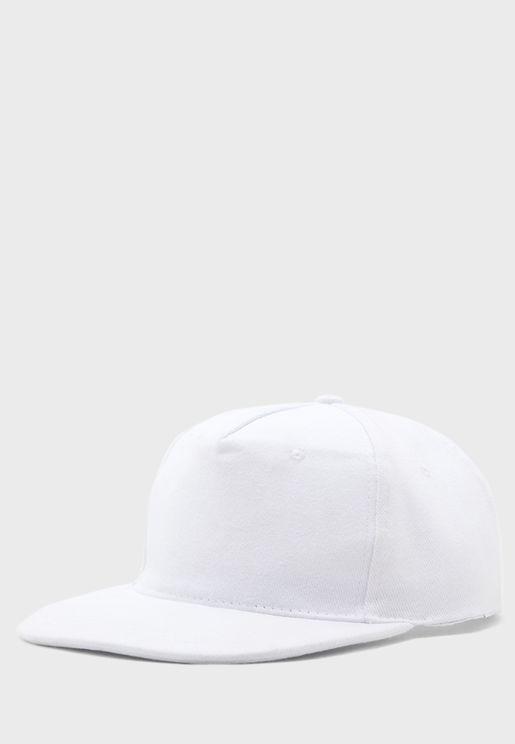 Flat Peak Cotton Cap